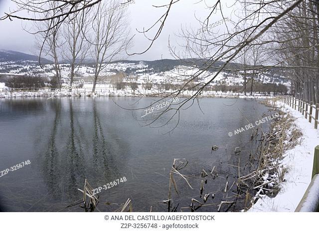 Winter landscape Alcala de la Selva Teruel Aragon Spain