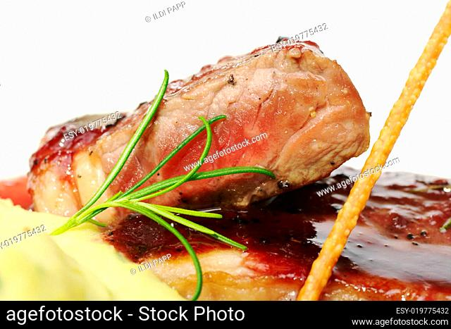Fresh Rosemary and Meat