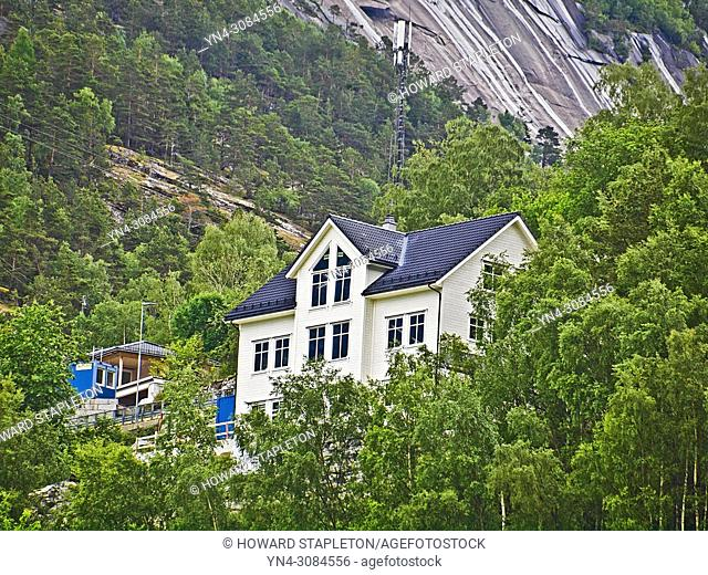 A large hilside house at Eidfjord, Norway
