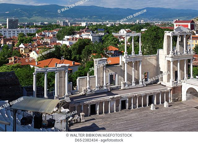 Bulgaria, Southern Mountains, Plovdiv, Old Plovdiv, Roman Amphitheater