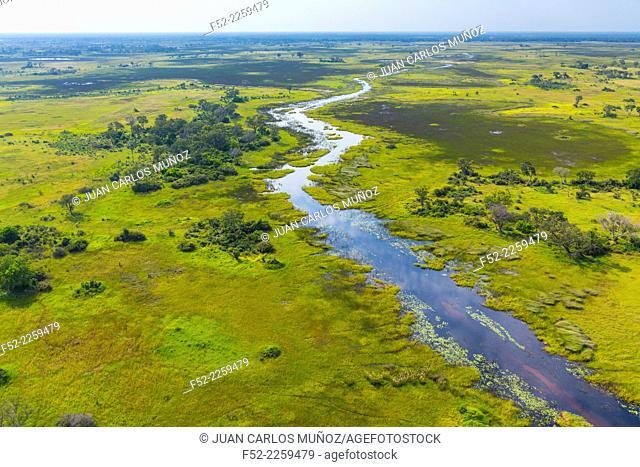 Botswana, Okavango Delta, Scenic landscape