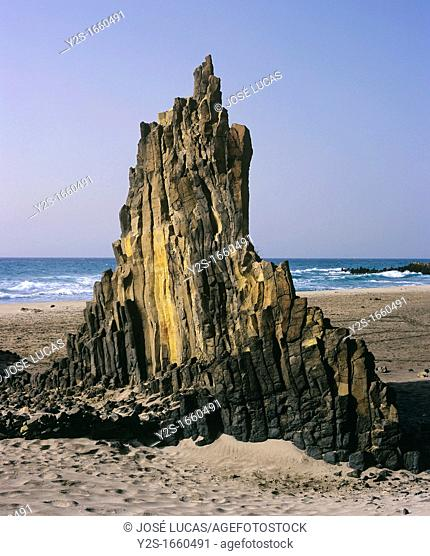Basalts creek, Natural Park of Cabo de Gata, Almeria-province, Spain