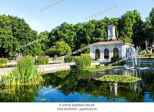 England, London, Kensington, Kensington Gardens, Italian Gardens