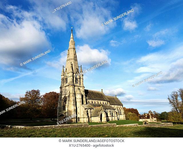 St Marys Church at Studley Royal Ripon Yorkshire England