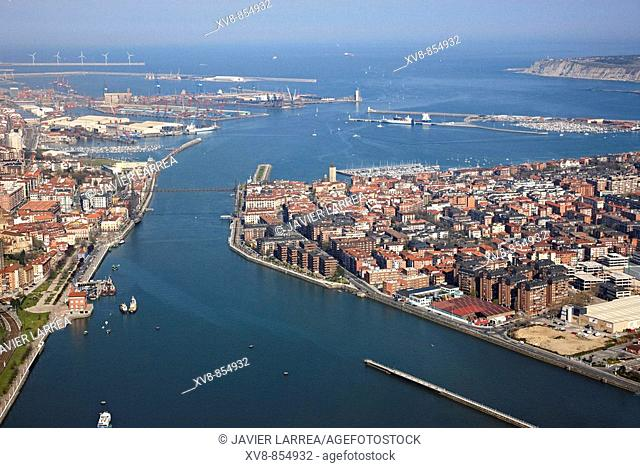 Portugalete and Las Arenas, Bilbao, Biscay, Basque Country, Spain