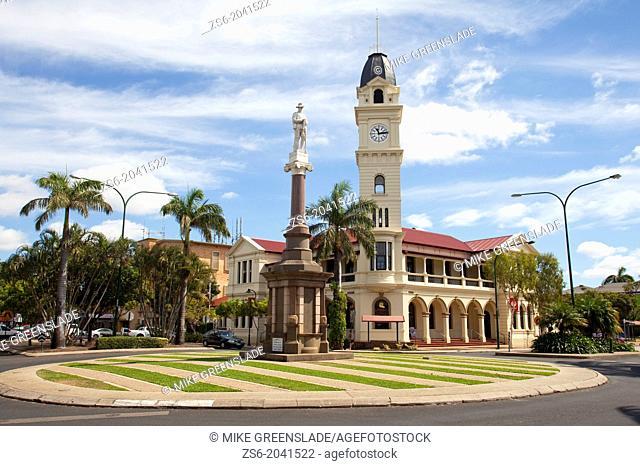 Bundaberg Post Office and War Memorial, Bundaberg, Queensland, Australia