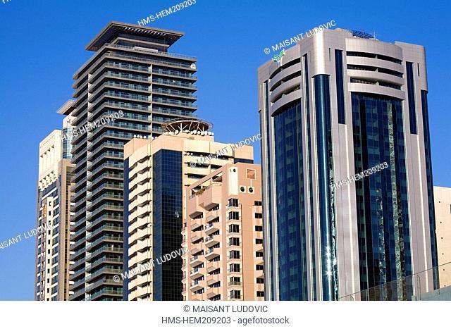 United Arab Emirates, Dubai, Sheikh Zayed Road, buildings