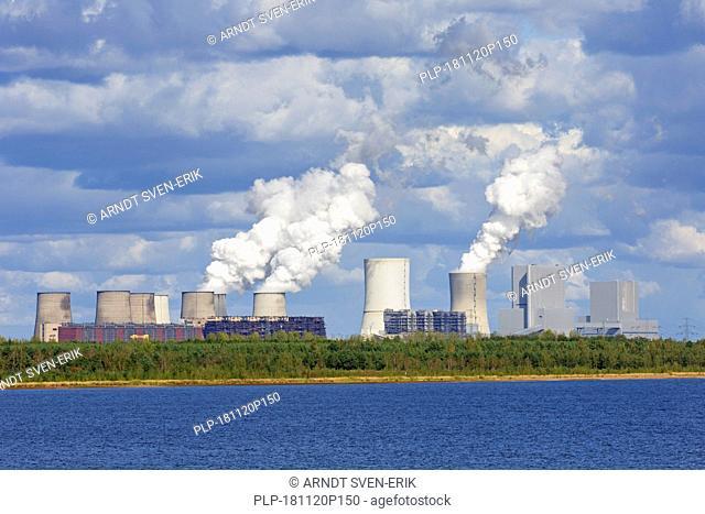 Boxberg Power Station / Kraftwerk Boxberg, lignite-fired power plant near Weißwasser / Weisswasser, Saxony, Eastern Germany