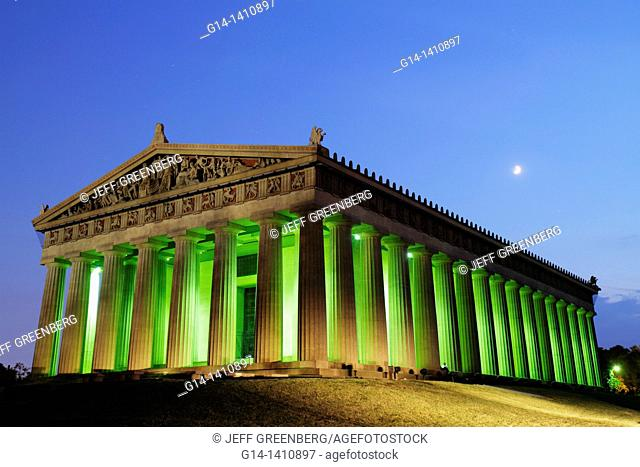 Tennessee, Nashville, Centennial Park, Parthenon, 1897, historic building, museum, Greek, Athena, classical architecture, full-scale replica, re-creation