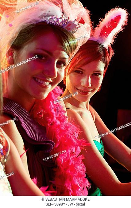Young women on hen night