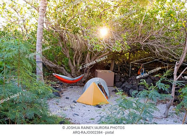 Camping at Halape Beach, a very remote beach 11.3 miles down the Puna Coast Trail in Hawaii Volcanoes National Park on the Big Island