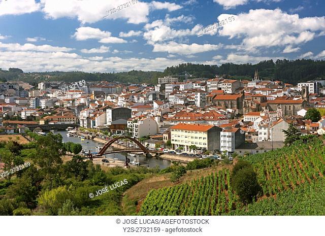 Panoramic view, Betanzos, La Coruña province, Region of Galicia, Spain, Europe