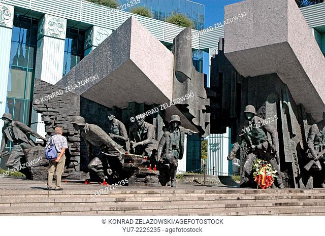 Heroes of Warsaw Uprising monument in Warsaw, Poland