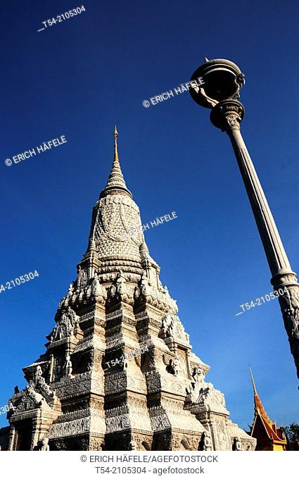 Silverpagoda in Phnom Penh / Cambodia