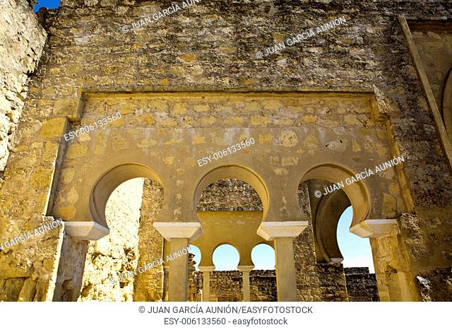 Upper Basilica Building on Archaeological Site of Medina Azahara, Madinat al-Zahra, Near Cordoba, Andalusia, Spain