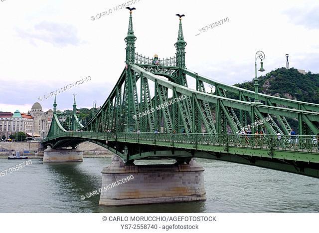 Szabadság híd, Liberty Bridge, Budapest, Hungary, Europe