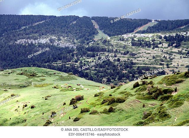 Landscape Gudar mountains in Teruel Aragon Spain