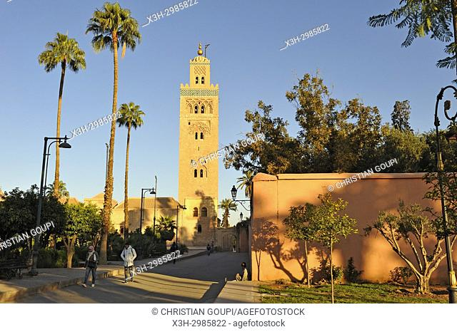 Koutoubia mosque, Marrakesh, Morocco, North Africa