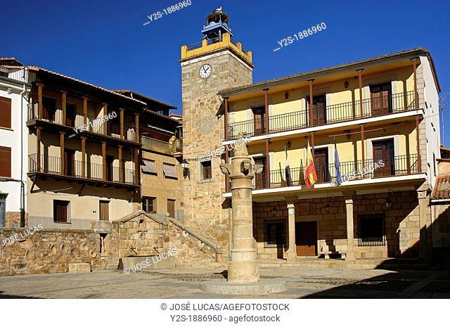 Town Hall Square, Pasaron de la Vera, Caceres-province, Spain