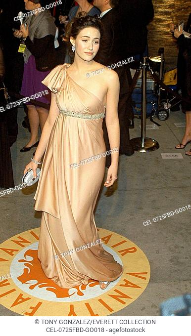Emmy Rossum at arrivals for 2007 Vanity Fair Oscar Party, Mortons Restaurant, Los Angeles, CA, February 25, 2007. Photo by: Tony Gonzalez/Everett Collection