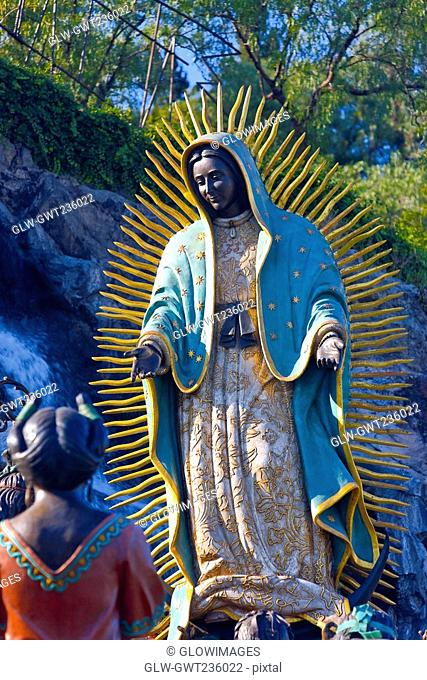 Low angle view of a statue of Virgin Mary, Virgin of Guadalupe, Tepeyac, Mexico city, Mexico
