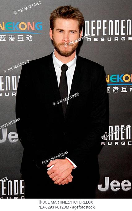 Liam Hemsworth at the premiere of 20th Century Fox's Independence Day: Resurgence at TCL Chinese Theatre on June 20, 2016 in Hollywood, California