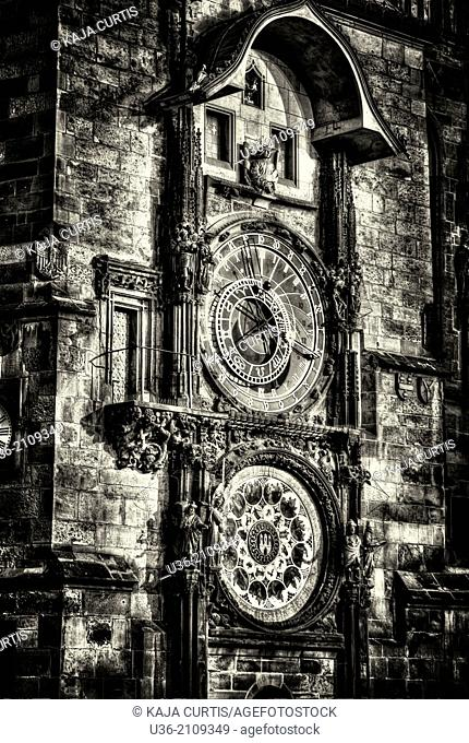 Astronomical Clock Old Town Square Prague Czech Republic