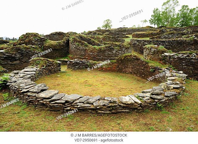 Coaña Hillfort (Iron Age). Principality of Asturias, Spain