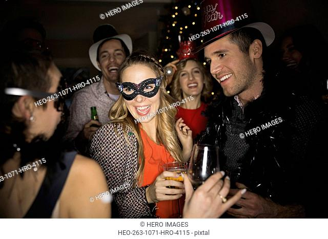 Friends enjoying New Years Eve party