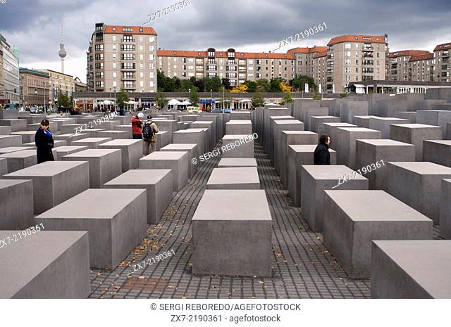 Berlin Memorial for the Murdered Jews of Europe. Holocaust memorial. The Memorial to the Murdered Jews of Europe, one of the most evocative and controversial...