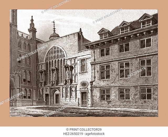 West Front of Guildhall Chapel, 1886. Artist: Unknown
