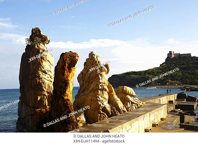 Africa, Tunisia, Tabarka, The Needles, Les Aiguilles, Genoese Fort in the Background