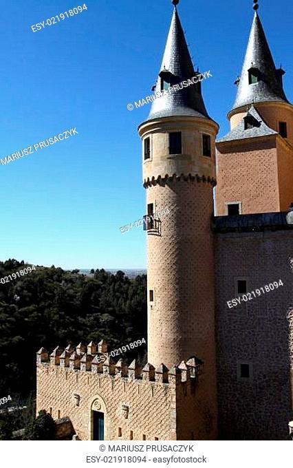 Alcazar of Segovia in Spain