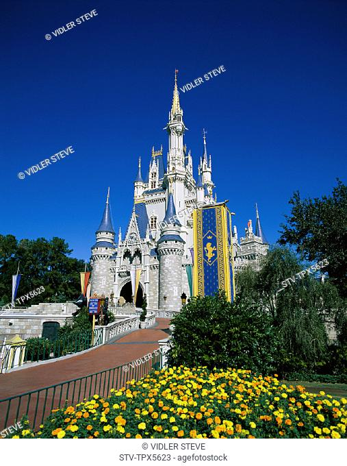 America, Castle, Cinderella, Florida, Holiday, Kingdom, Landmark, Magic, Orlando, Tourism, Travel, United states, USA, Vacation