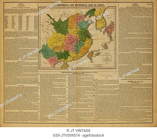 Geographical and Historical Map of China, 1820