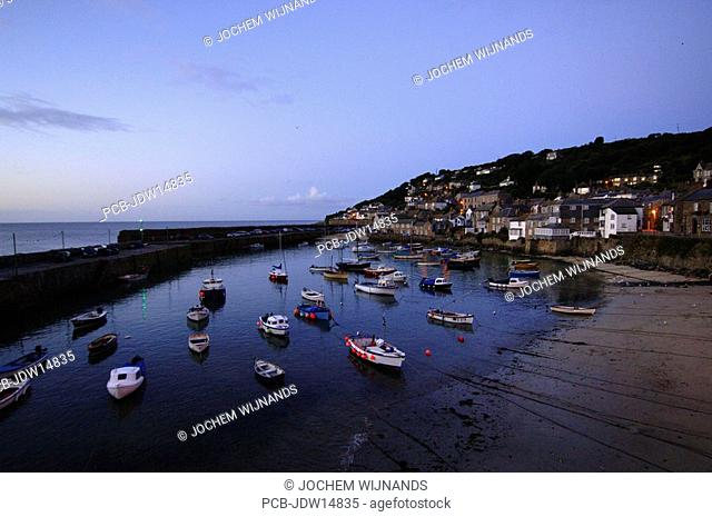 Cornwall, the harbour of Mousehole village