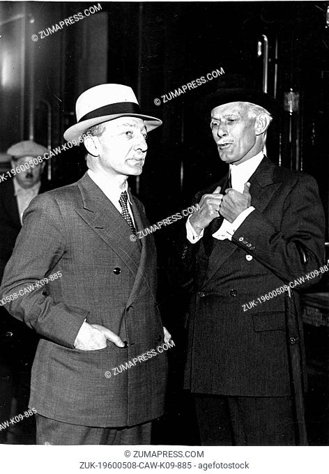 May 8, 1960 - Location Unknown - YVON DELBOS (1885-1956) was a Radical politician who served as Minister of Foreign Affairs of France
