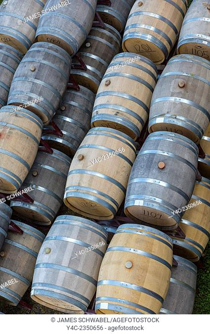 Wood Wine barrels in the Finger Lakes Region of New York State