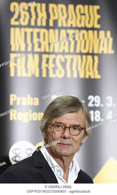 Danish Academy Award-winning director Bille August attends a news conference within the Febiofest Film Festival on March 27, 2019, in Prague, Czech Republic