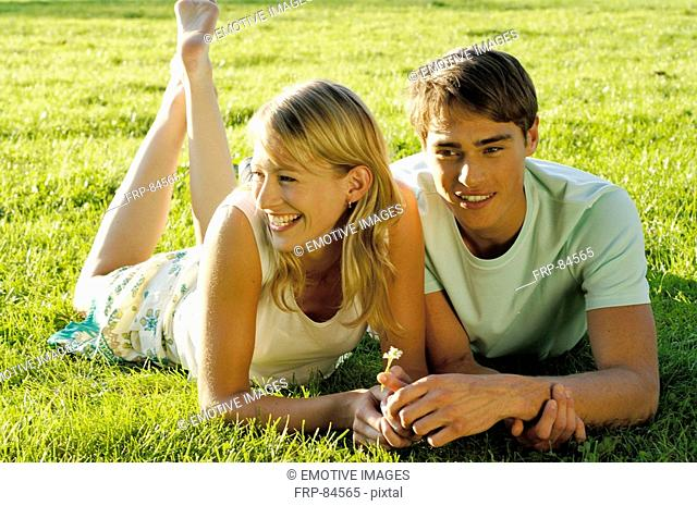 Together on lawn