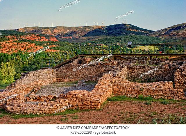 Roman Houses. Celtiberian and Roman Archaeological Site of Tiermes. Montejo de Tiermes. Soria Province. Castilla y Leon. Spain