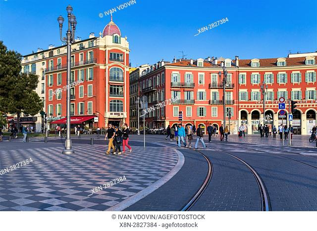 Massena square, Nice, Alpes Maritimes departement, France