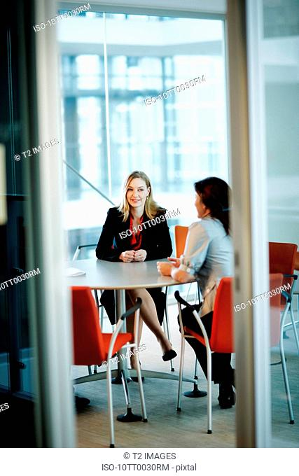 Business women in a meeting
