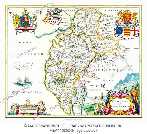 Map of Cumbria by Johan Blaeu