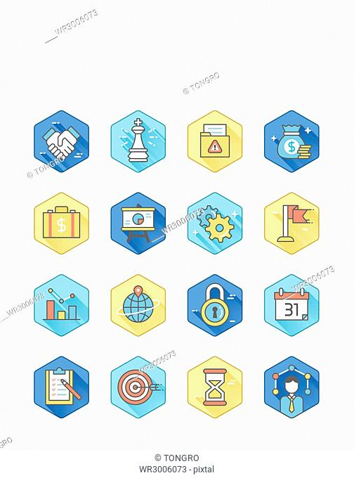 Icon set related to business