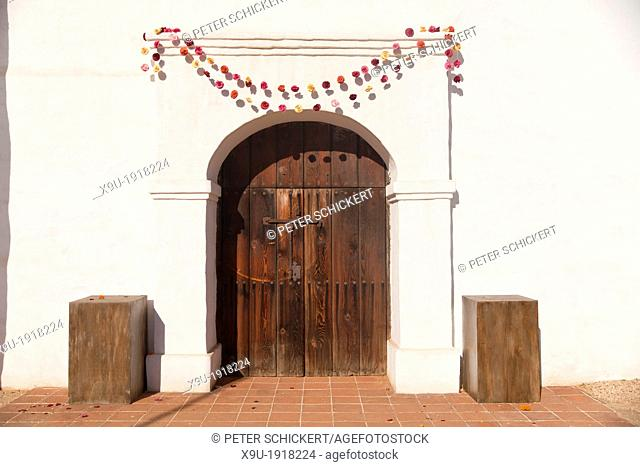 Door to El Presidio de Santa Barbara, State Historic Park Santa Barbara, California, United States of America, USA