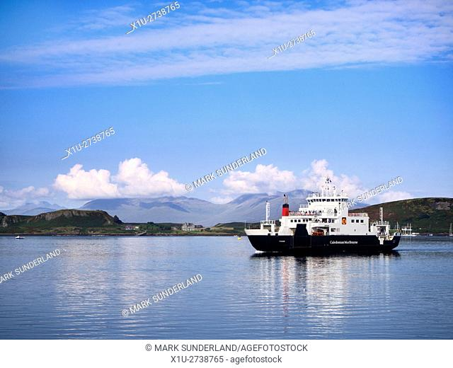 Caledonian MacBrayne Ferry from Mull arriving in Oban Argyll and Bute Scotland