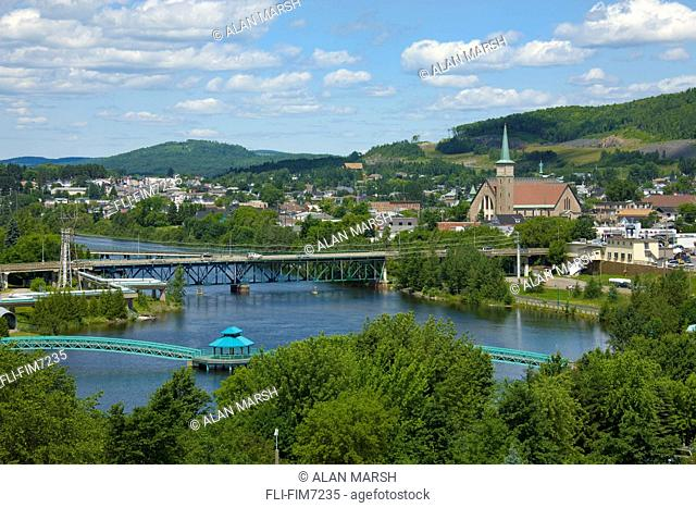 Skyline and St. John River, Edmundston, New Brunswick