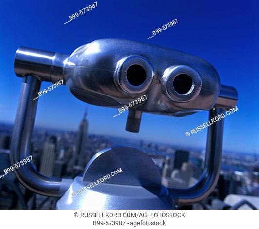 Pay Binoculars, Top Of The Rock Observation Deck, Midtown, Manhattan, New York, USA