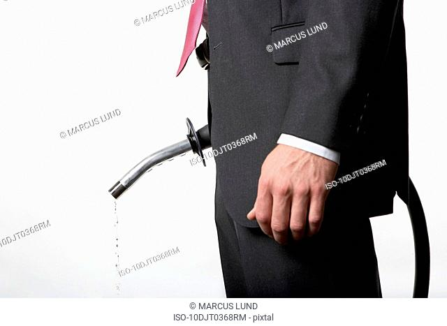 Man holding petrol pump